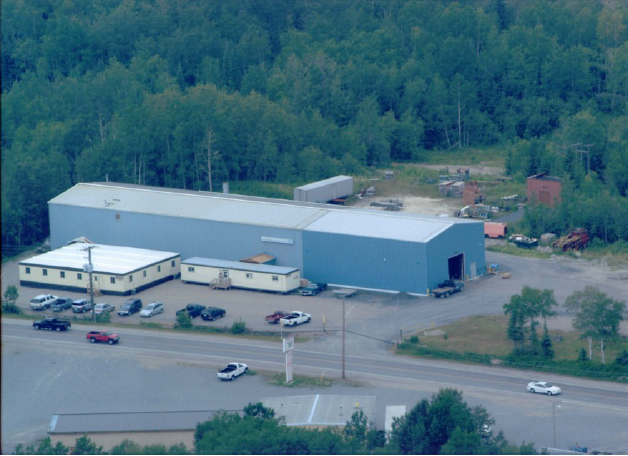 Heath & Sherwood head office and fabrication shop on Government Rd. West in Kirkland Lake