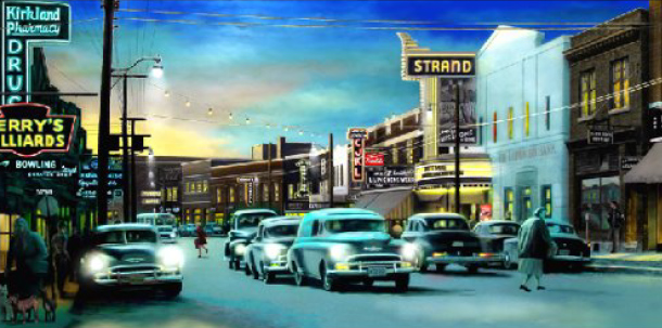The Strand, downtown Kirkland Lake in the fifties. (Mark Didine)